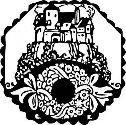 Abbey And Wreath clip art