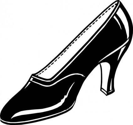 free vector Black Shoe clip art