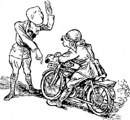 Stop That Motorcycle clip art