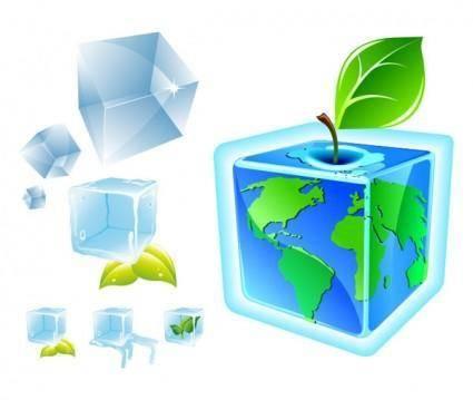 free vector Ice cube vector