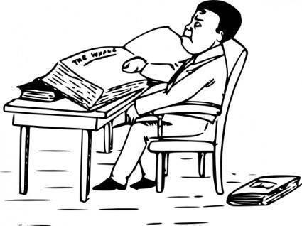 free vector Man Reading Books clip art