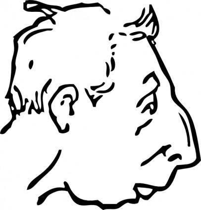 Weak Chin clip art