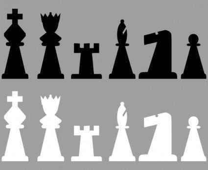 free vector Chess Set Pieces clip art