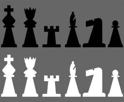 Chess Set Pieces clip art