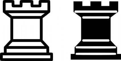 Chess Piece Rook clip art