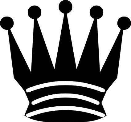 free vector Black Chess Queen clip art