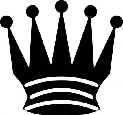 Black Chess Queen clip art