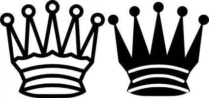 Chess Queen Crown clip art