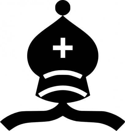 Chess Piece Black Bishop clip art