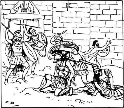 Death Of Achilles clip art