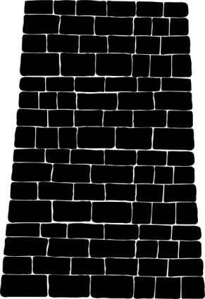 free vector Big Brick Black Wall clip art