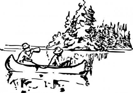 free vector Canoeing clip art