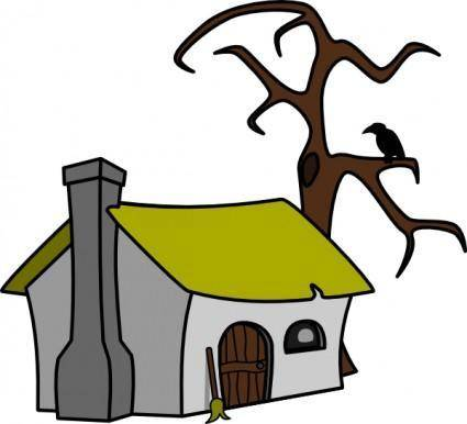 Witch Cottage clip art
