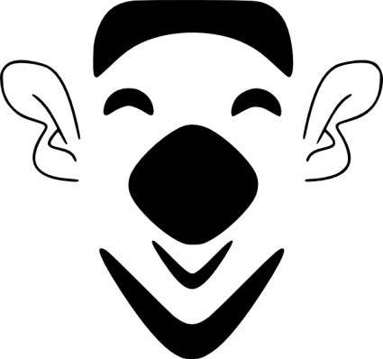 free vector Gemmi Laughing Bearded Face clip art