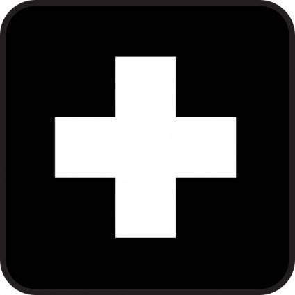 First Aid Map Sign clip art 107205