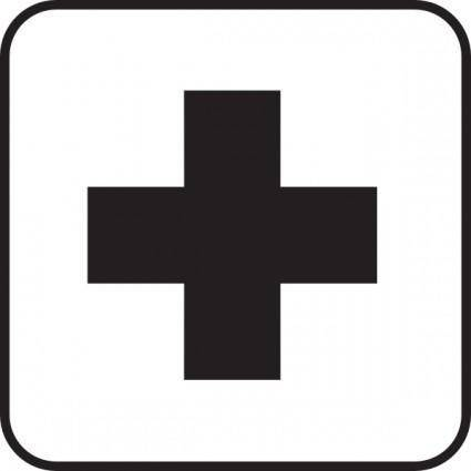 First Aid Map Sign clip art 107206