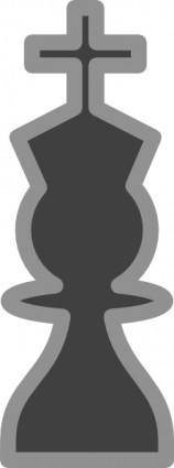 free vector Chess King Black clip art