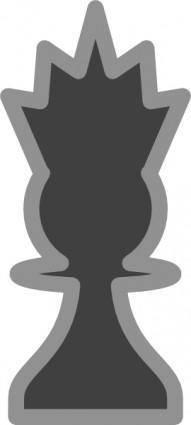 Chess Queen Black clip art
