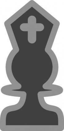 Chess Bishop Black clip art