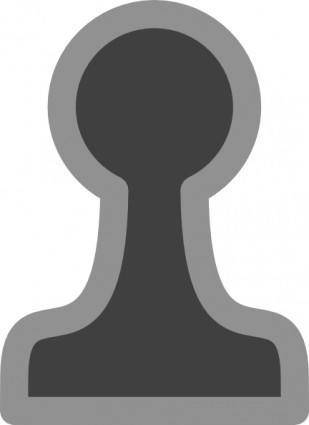 Chess Pawn Black clip art