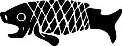 Ancient Mexico Motif Fish clip art