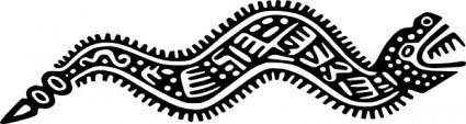 Ancient Mexico Motif Snake clip art