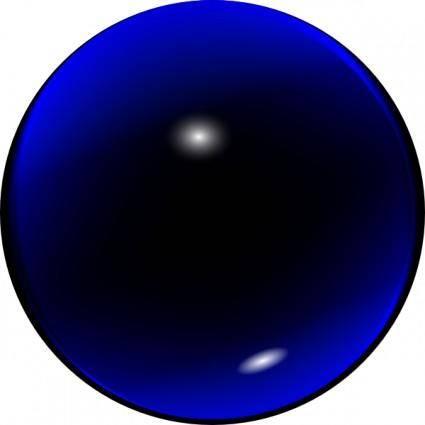 free vector Glass Blue Ball clip art