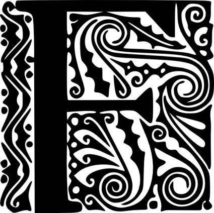 Alphabet F clip art