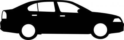 free vector Black Sedan Car clip art