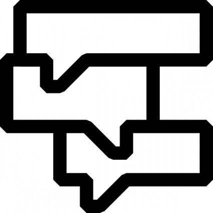 Black White Callouts clip art