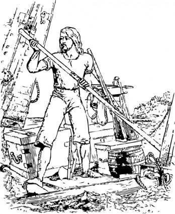Robinson Crusoe clip art