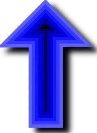 Up Arrow Deep Blue Black clip art