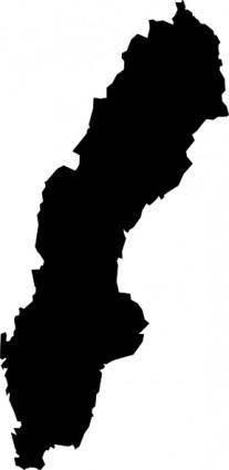 Sweden Map clip art