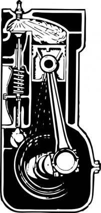 Engine Cross Section clip art 107239