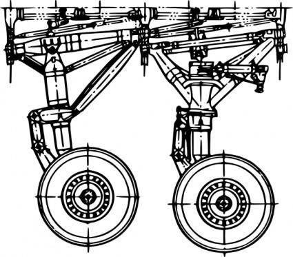free vector Landing Gear  clip art