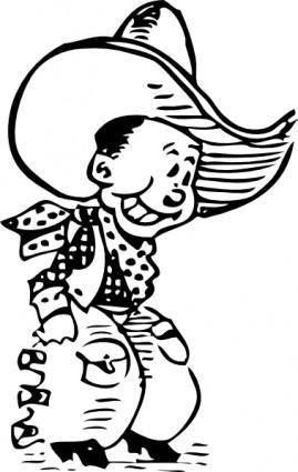 free vector Cartoon Cowboy clip art