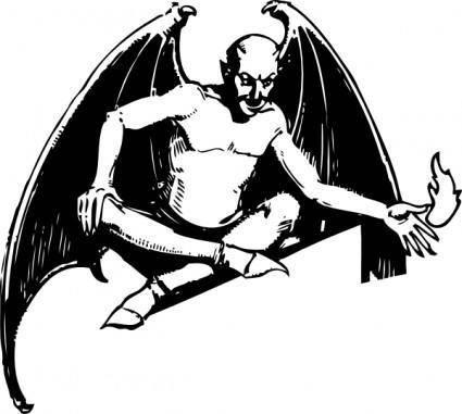 free vector Sitting Devil clip art