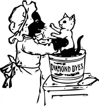 Cats And Dye clip art