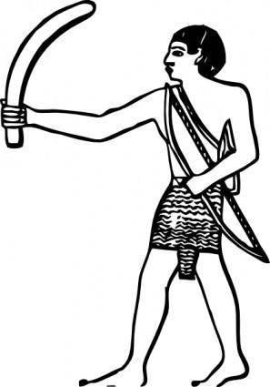Egyptian Boomerang clip art