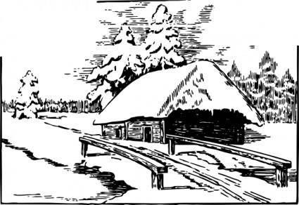 free vector Snowy Scene clip art