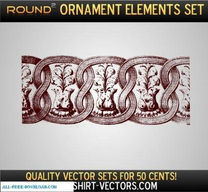 free vector Ornament Sample Set