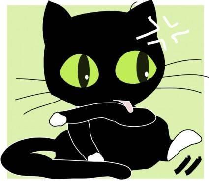 free vector Antontw Black Cat clip art