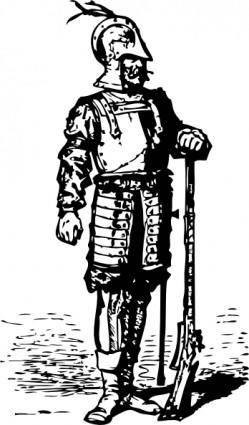 Elizabethan Soldier clip art