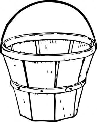 Quart Basket clip art