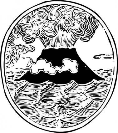 free vector Volcano clip art