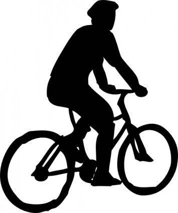 free vector Bicyclist Sillouette clip art