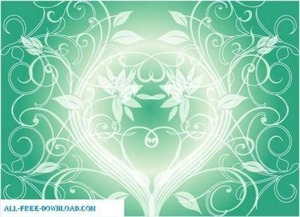 Swirly green vector