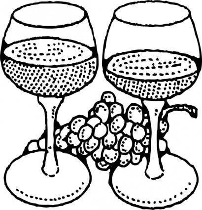 Two Glasses Of Wine clip art