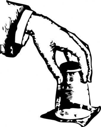 free vector Glass Trick clip art