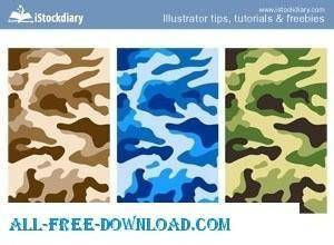 free vector Camouflage Print